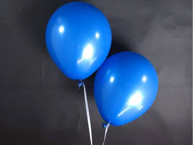 50 ballons Fête et Mariage Bleu Roi Ø27cm