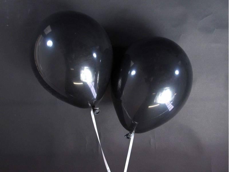 50 ballons Fête et Mariage Noir Ø27cm