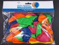 50 ballons Fête et Mariage Assortis Ø27cm