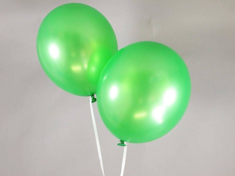 50 ballons métallisés Fête et Mariage Vert Lime Ø30cm
