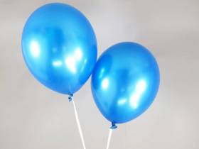 50 ballons métallisés Fête et Mariage Cyan Ø30cm