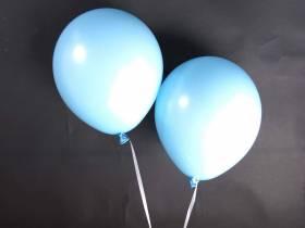 50 ballons Fête et Mariage Bleu Ciel Ø27cm
