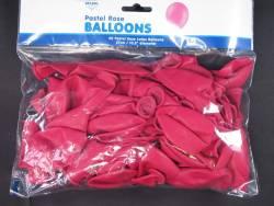 50 ballons Fête et Mariage Fuchsia Ø27cm