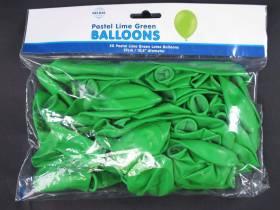 50 ballons Fête et Mariage Vert Lime Ø27cm