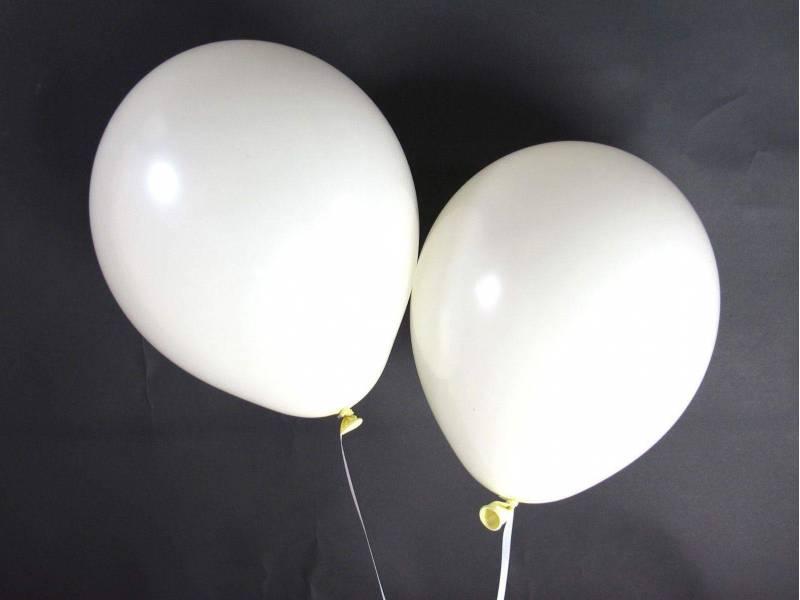 50 ballons Fête et Mariage Ivoire Ø27cm