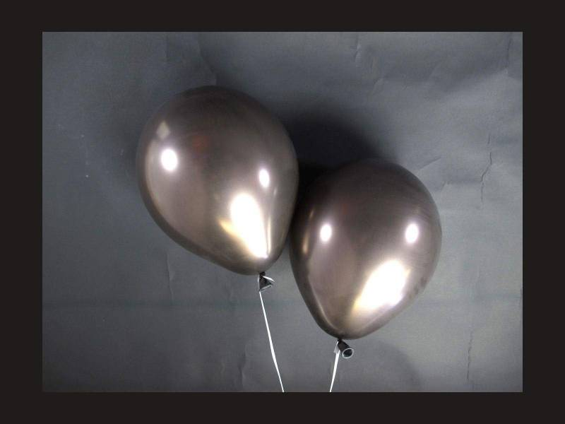 100 ballons métallisés Fête et Mariage Chocolat Ø12cm