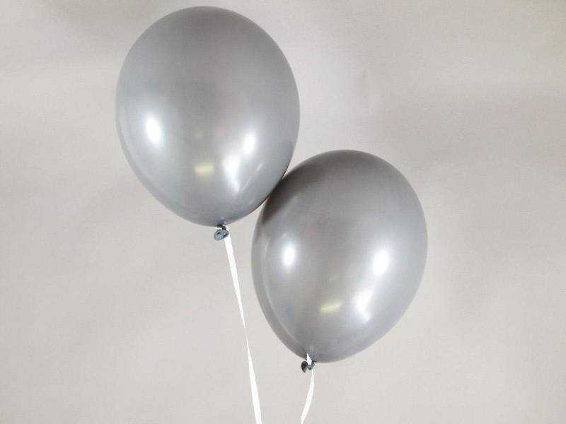 50 ballons Fête et Mariage Gris Ø27cm