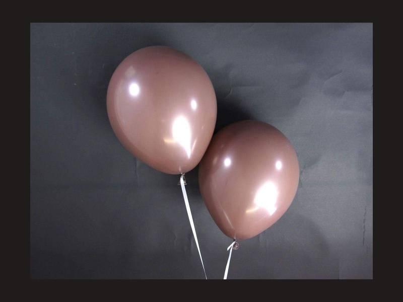 100 ballons Fête et Mariage Cacao Ø12cm