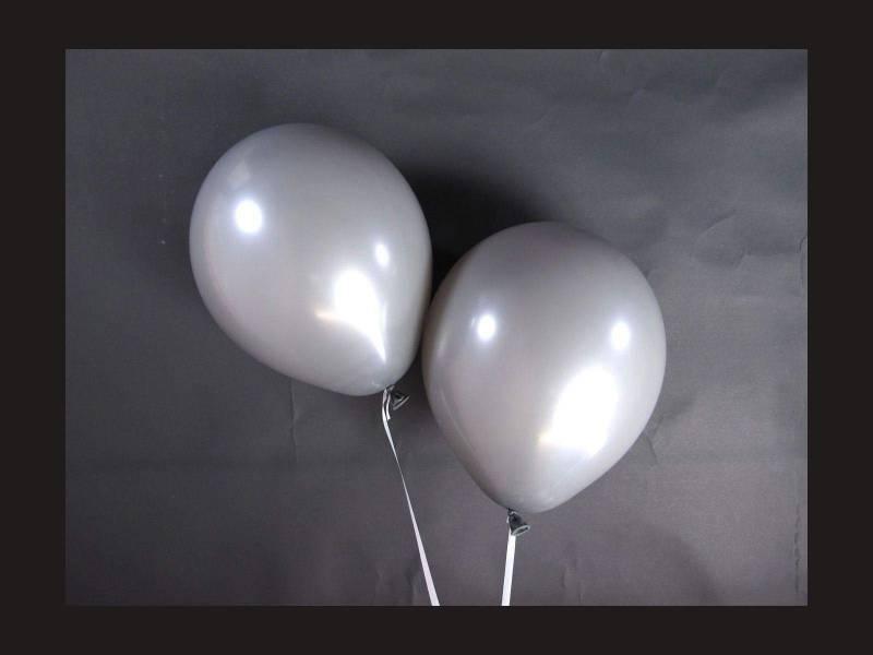 100 ballons Fête et Mariage Gris Ø12cm