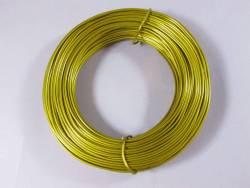Fil Aluminium décoratif pour bijoux 2mmx60m - Or