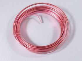 Fil Aluminium décoratif pour bijoux plat 4mm - Rose