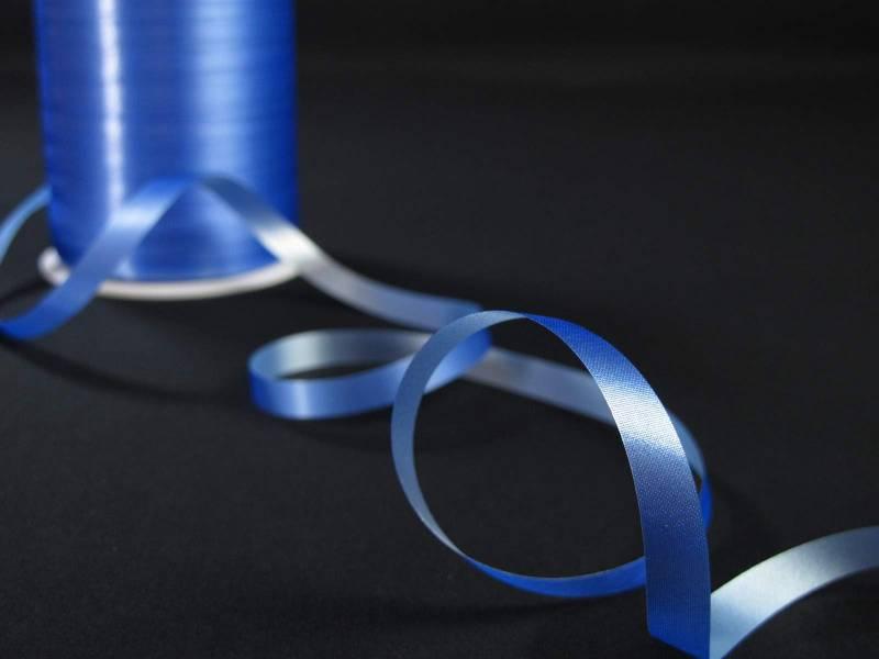 Bolduc organdi bleu - 1cm