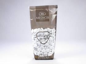 Dragée petit coeur chocolat lait - Blanc
