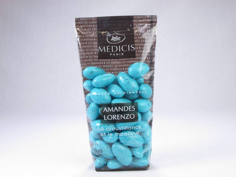 Dragée chocolat et amande lorenzo - Turquoise - 250g