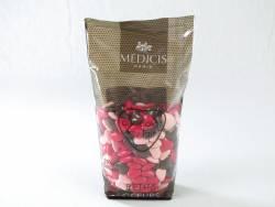 Dragée petit coeur chocolat lait - Framboise/Rose/Chocolat