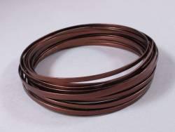 Fil Aluminium décoratif pour bijoux plat 4mm - Chocolat