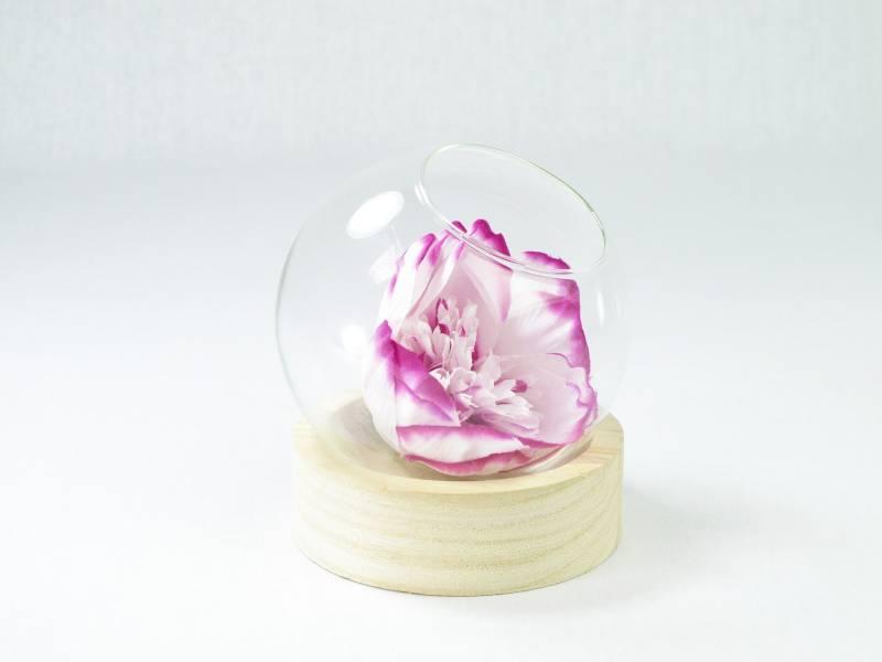 Vase boule sur socle en bois - 10cm