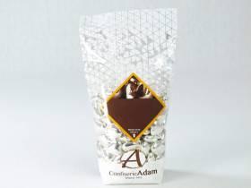 Dragée petit coeur chocolat lait - Argent