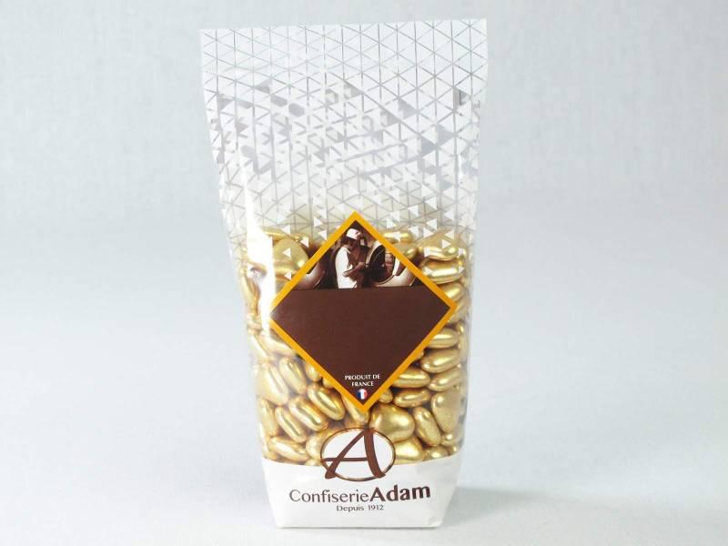Dragée petit coeur chocolat lait - Or