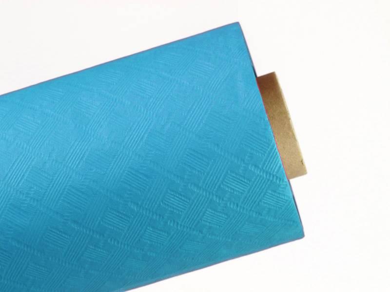 25m Nappe en papier damassé mundo - Azur