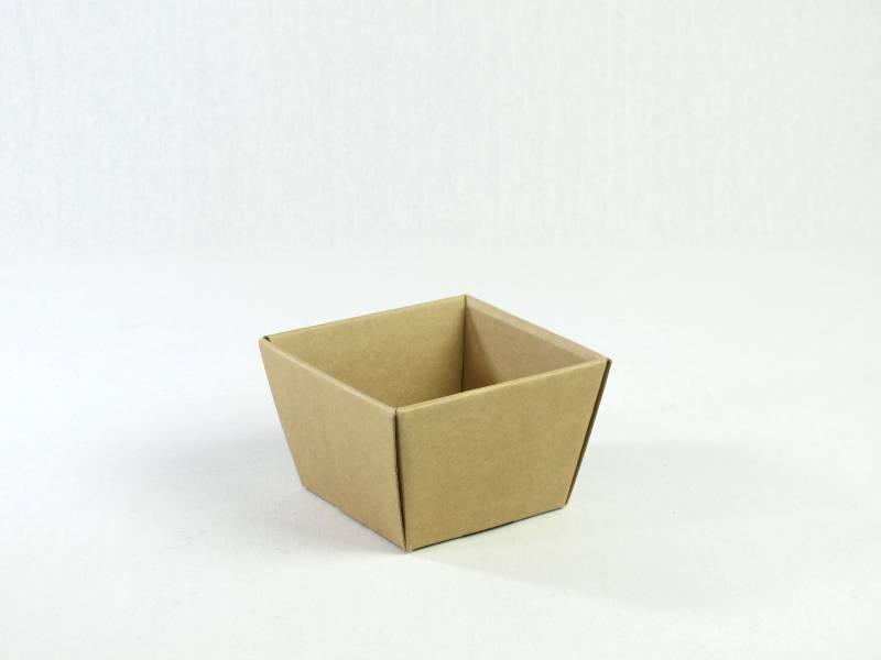 Corbeille carton - Havane 9x9x7,5cm