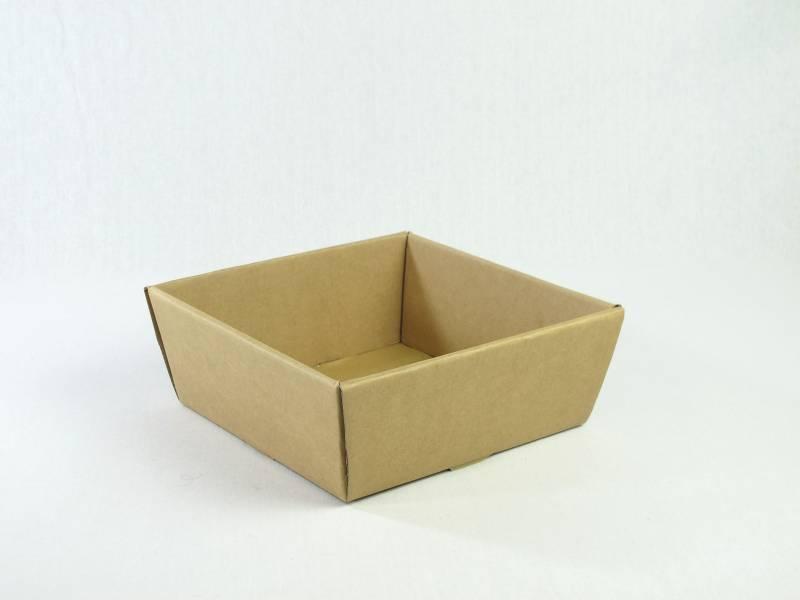 Corbeille carton - Havane 21x21x9cm