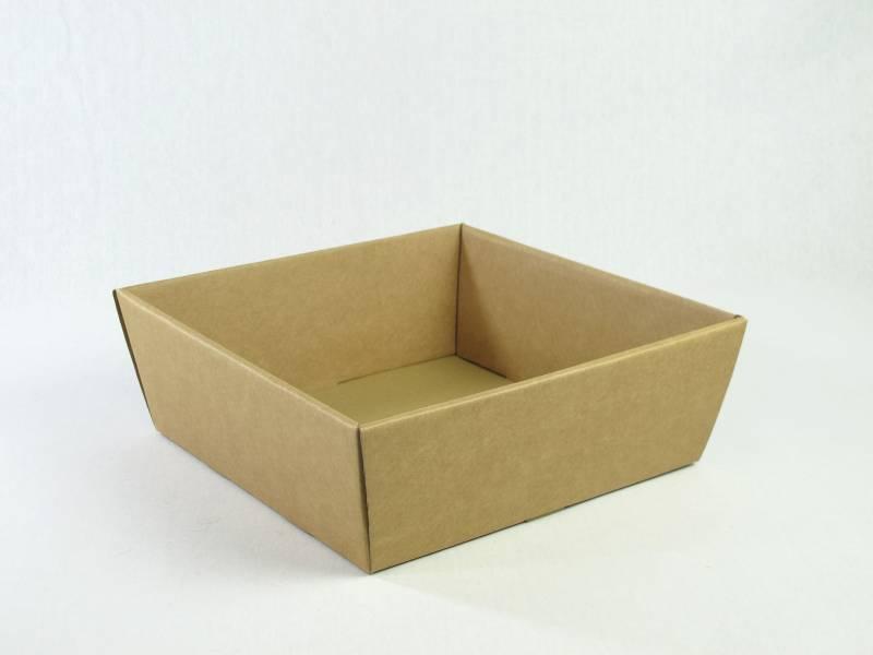 Corbeille carton - Havane 26x26x10cm