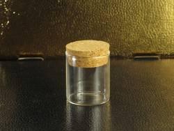 Tube en verre et bouchon de liège déco Ø4,5x5cm
