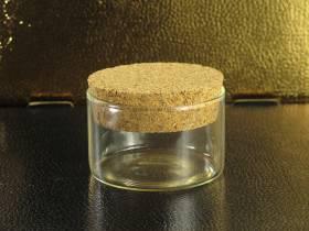 Pot en verre et bouchon de liège déco Ø8x5cm