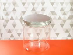 Pot en plastique et couvercle alu design - Ø9,5x10cm