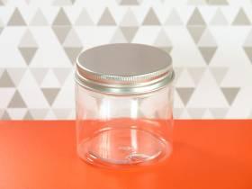 Pot en plastique et couvercle alu design - Ø7x7cm