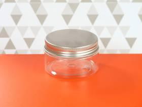 Pot en plastique et couvercle alu design - Ø7x4cm