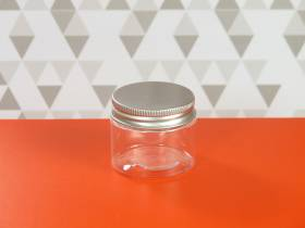 Pot en plastique et couvercle alu design - Ø5x4cm