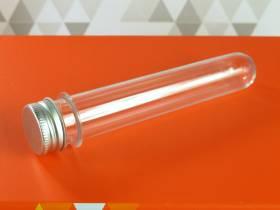 Pot en plastique et couvercle alu design - Ø4x7cm