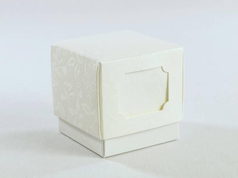 Ballotin à dragées mariage et fête - fleur relief 7cm