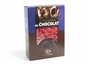 Dragée chocolat 54% cacao 1Kg - Framboise