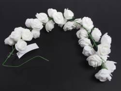 Petite guirlande de roses blanche pour la déco de table