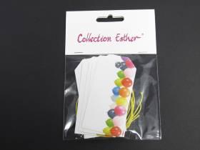 Marque place étiquette et cordon motif ballon - x6