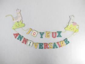 Guirlande joyeux anniversaire Lama - 60cm