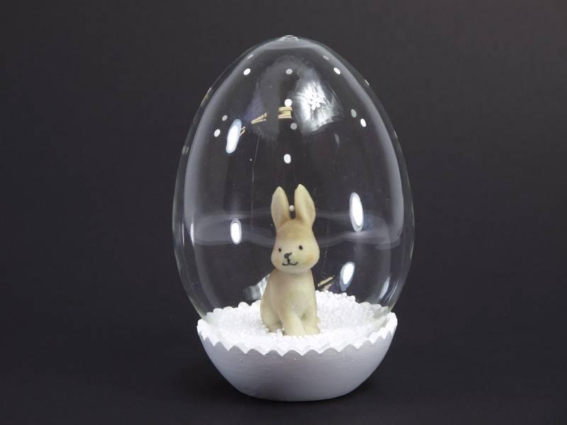Oeuf verre lapin déco de Pâques