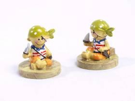 Figurine pirate enfant x2