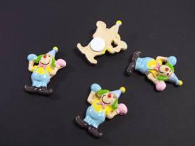 Figurine clown à coller déco de table x4