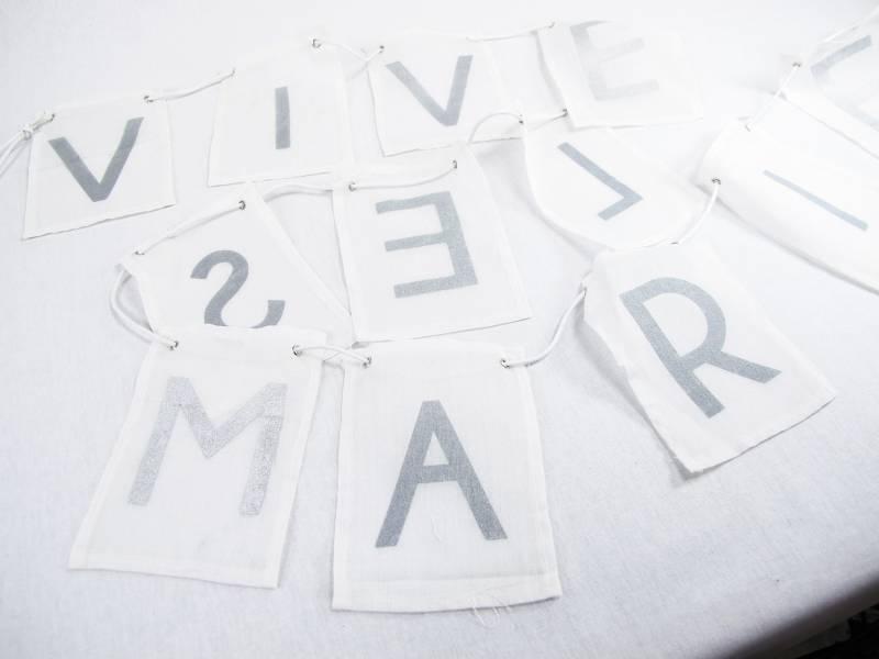 Guirlande mariage Vive les mariés - 2m