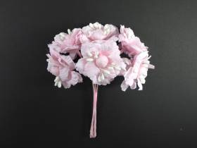 Bouquet de 6 fleurs roses déco de table mariage