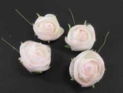 Fleur Renoncule rose pour déco mariage x4