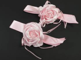Rose rose ruban x2