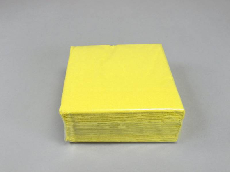 Serviette ouate 25x25cm - Citron