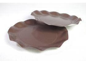 Assiette carton 100% compostable brun Ø27cm