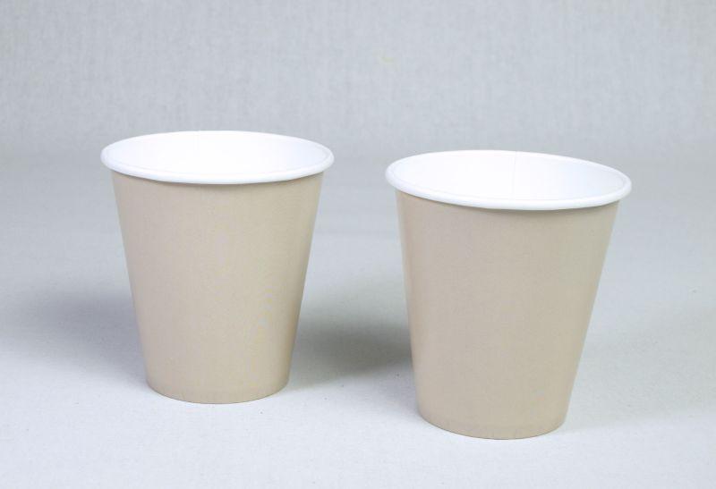 Gobelet carton biodégradable compostable taupe 25cl