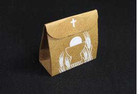 Ballotin à dragées sachet pour communion havane